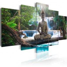 Vícedílný obraz na plátně Artgeist Buddha, 100x50cm