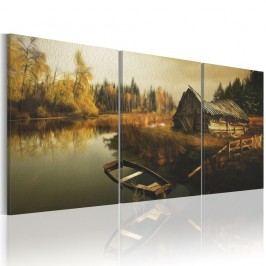 Vícedílný obraz na plátně Artgeist Hut 60 x 30 cm