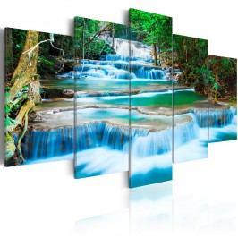 Vícedílný obraz na plátně Artgeist Blue Waterfall 200x100cm Obrazy, rámy atabule