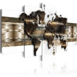 Vícedílný obraz na plátně Artgeist Metalic World, 100x50cm
