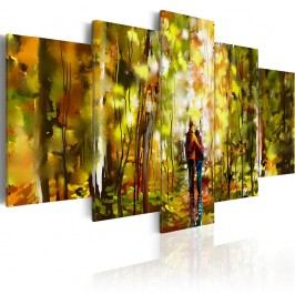 Vícedílný obraz na plátně Artgeist Romantic Walk, 200 x 100 cm Obrazy, rámy atabule