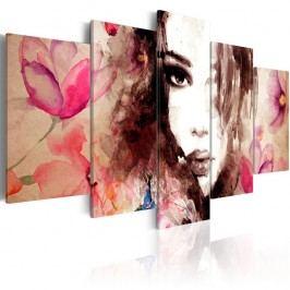 Vícedílný obraz na plátně Artgeist Whisper, 100x50cm Obrazy, rámy atabule