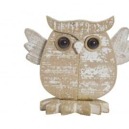 Dekorace z litokaprového dřeva Mauro Ferretti Gufo Nordic, 23 cm
