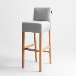 Světle šedá barová židle s přírodními nohami Custom Form Poter