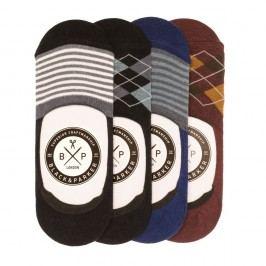 Sada 4 párů neviditelných unisex ponožek Black&Parker London Clifford,velikost37/43