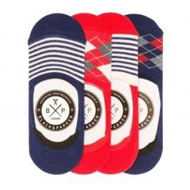 Sada 4 párů neviditelných unisex ponožek Black&Parker London Curtis,velikost37/43