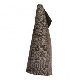 Černý lněný ručník Iris Hantverk Gåsöga, 50x70cm Ručníky