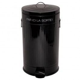 Černý odpadkový koš Incidence Retro, 50 l