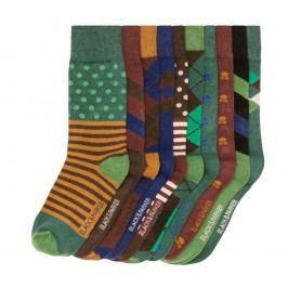 Sada 10 párů vysokých unisex ponožek Black&Parker London Stone,velikost37/43