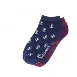 Sada 2 párů kotníkových unisex ponožek Black&Parker London Jameson,velikost37/43