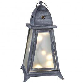 Šedá svítící LED lucerna Best Season Fyris