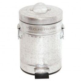 Odpadkový koš ve stříbrné barvě Incidence Retro, 3 l