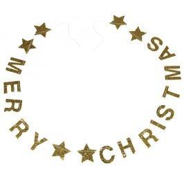 Vánoční girlanda s nápisem Rex London Gold Stars Vánoční dekorace