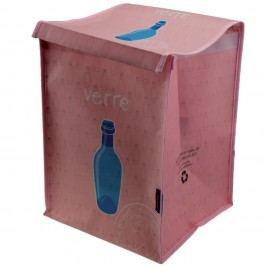 Světle růžový koš na recyklování skla Incidence Rubbish