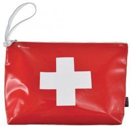 Červeno-bílá taštička na zip Incidence Cross
