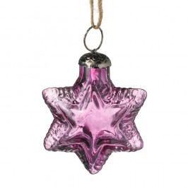 Fialová vánoční ozdoba Parlane Star