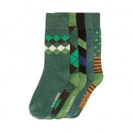 Sada 5 párů vysokých unisex ponožek Black&Parker London Tittle,velikost37/43