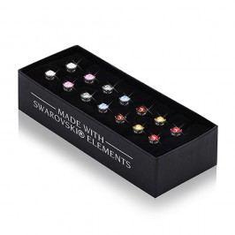 Sada 7 párů kulatých náušnic s krystaly Swarovski® GemSeller Life