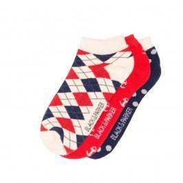 Sada 3 párů kotníkových unisex ponožek Black&Parker London Farley,velikost37/43