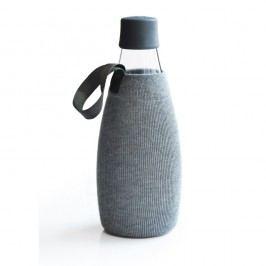 Šedý obal na skleněnou lahev ReTap s doživotní zárukou, 800ml