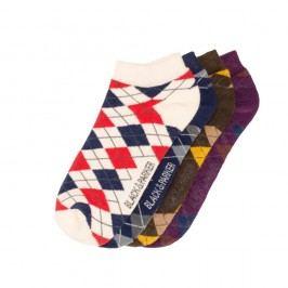 Sada 4 párů kotníkových unisex ponožek Black&Parker London Floyd,velikost37/43