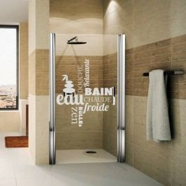 Voděodolná samolepka do sprchy Ambiance Zen, 55 x 65 cm