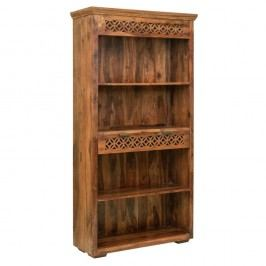 Knihovna z palisandrového dřeva sezásuvkou Massive Home Rosie