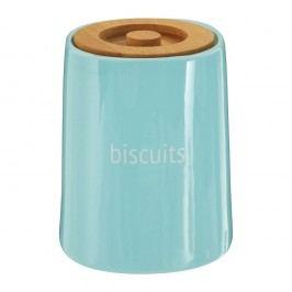 Modrá dóza na sušenky s bambusovým víkem Premier Housewares Fletcher