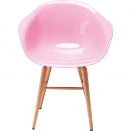 Sada 4 růžových jídelních židlí Kare Design Forum Object