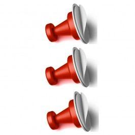 Sada 3 červených magnetických háčků Reenbergs Multiple