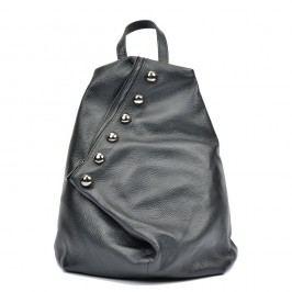 Černý kožený batoh Luisa Vannini Mell