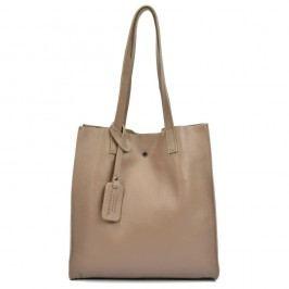 Béžová kožená kabelka Isabella Rhea Clariss