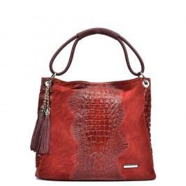 Červená kožená kabelka Luisa Vannini Marsala