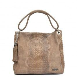 Béžová kožená kabelka Luisa Vannini Marea