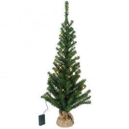 Umělý vánoční LED stromeček Best Season Tree In Jute Bag, 90 cm