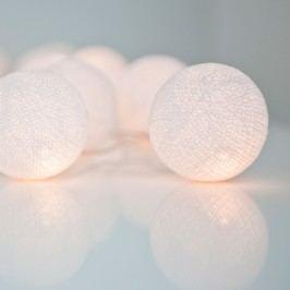 Světelný řetěz Irislights Pure White, 20 světýlek