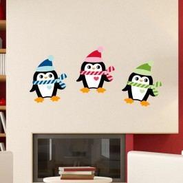 Sada 3 vánočních samolepek Fanastick Christmas Penguins