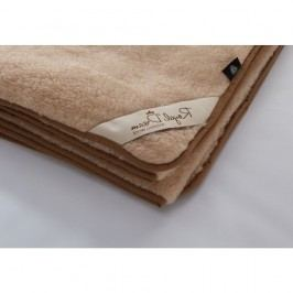 Hnědá deka z merino vlny Royal Dream,90x200cm