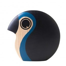 Dekorace ve tvaru malého ptáčka se světle modrým detailem Architectmade Discus