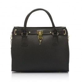 Černá kožená kabelka Giulia Massari Clementine