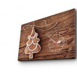 Obraz s hodinami Christmas no. 1, 45x70 cm Hodiny abudíky