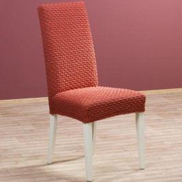 Nueva Textura decoDoma napínací potah multielastický REBECA cihlové židle s opěradlem 2 ks 40 x 40 x 60 cm