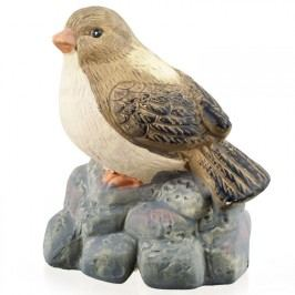 VETRO-PLUS Zvířátka terakotová - pták na kameni, vel. 13,5x10x15 cm