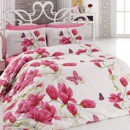 Tip Trade Bavlněné  povlečení Alize Pink růžové 140 x 220 cm, 70 x 90 cm