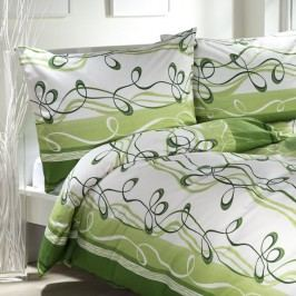 STANEX Bavlněné  povlečení Twist zelené 140 x 200 cm, 70 x 90 cm