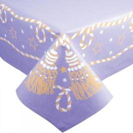 Svitap Bavlněný Vánoční ubrus fialový