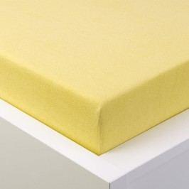 Hermann Cotton Napínací prostěradlo froté EXCLUSIVE světle žlutá 90 - 100 x 200 cm 2 ks