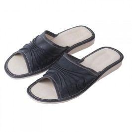 Ovčí věci Dámské kožené pantofle na klínku vel. 37