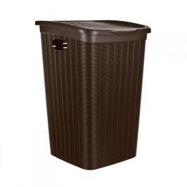 VETRO-PLUS Koš na špinavé prádlo 50 L Ratan tmavě hnědý