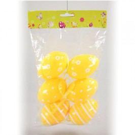 Plastová závěsná vajíčka 6 ks žlutá
